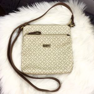 Tommy Hilfiger Beige Signature Crossbody Purse
